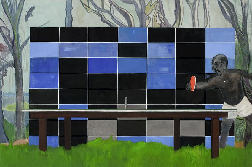 Peter Doig – Ping Pong; 2006-08, Öl auf Leinwand; 240 x 360 cm; Barrie und Emmanuel Roman, Legat an Tate; © Peter Doig. All Rights Reserved / 2014, ProLitteris, Zürich; Foto: Thomas Müller