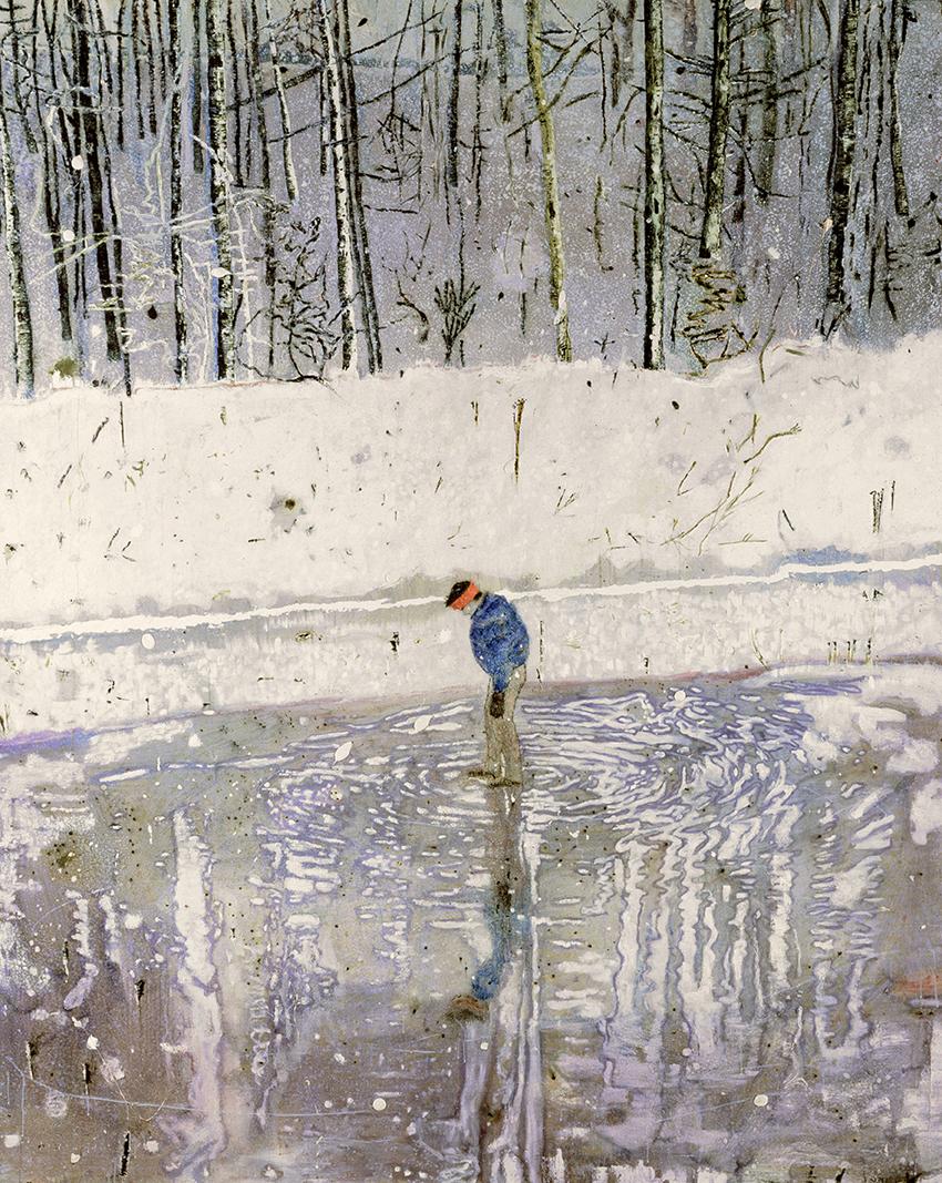 Peter Doig – Blotter; 1993, Öl auf Leinwand; 249 x 199 cm; National Museums Liverpool, Walker Art Gallery, Schenkung des John Moores Family Trust 1993; © Peter Doig. All Rights Reserved / 2014; ProLitteris, Zürich