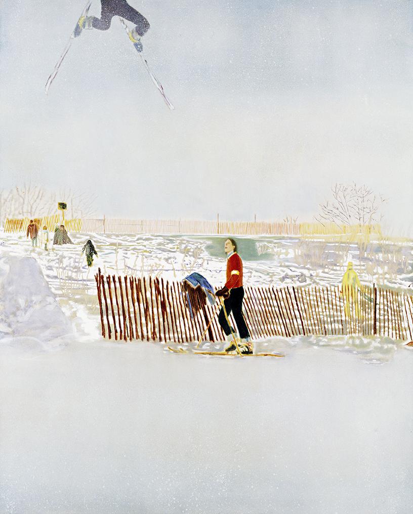 Peter Doig – Olin MK IV; 1995, Öl auf Leinwand; 250 x 200 cm; Privatsammlung;  © Peter Doig. All Rights Reserved / 2014, ProLitteris, Zürich; Foto: Jochen Littkemann