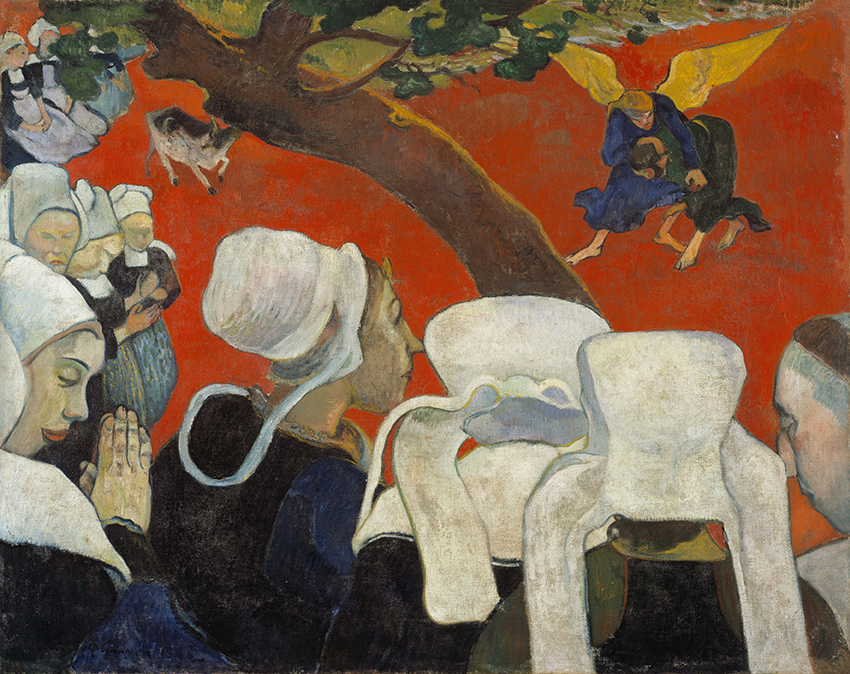 Paul Gauguin, La Vision du sermon, 1888; Die Vision der Predigt; Öl auf Leinwand, 72,2 x 91 cm; Scottish National Gallery, Edinburgh