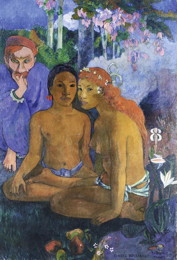 Paul Gauguin, Contes Barbares, 1902; Barbarische Erzählungen; Öl auf Leinwand, 131,5 x 90,5 cm; Museum Folkwang, Essen; Foto: © Museum Folkwang, Essen
