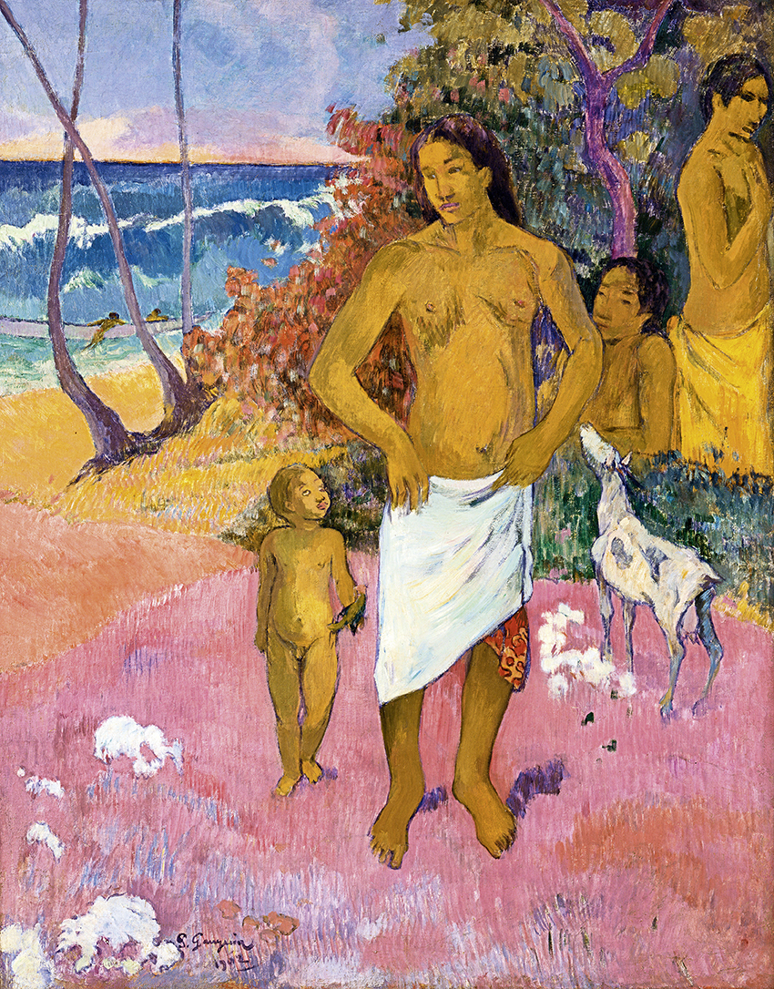 Paul Gauguin, Baigneurs, 1902; Badende, Öl auf Leinwand, 92 x 73 cm; Privatsammlung