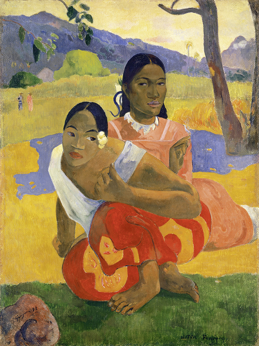 Paul Gauguin, Nafea faaipoipo, 1892; Quand te maries-tu?  Wann heiratest Du?; Öl auf Leinwand, 105 x 77,5 cm  Sammlung Rudolf Staechelin; Foto: Kunstmuseum Basel, Martin P. Bühler